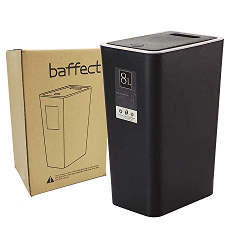 Baffect Empuje el Cubo de la Cocina con la Tapa, Empuje la T