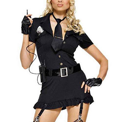 Hellomiko Lencería Sexy para Mujer Damas Trajes de Enfermera Maid Uniformes Disfraces Policía Ropa de Dormir Vestido de Cosplay