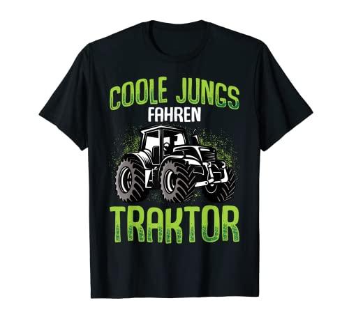 Coole Jungs fahren Traktor Trecker Junge Kinder T-Shirt