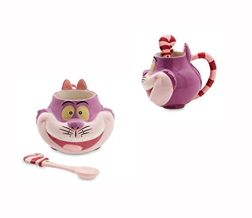 DISNEY GRINSEKATZE 3D KERAMIK BECHER MIT LÖFFEL - CHESHIRE CAT CUP AND SPOON MUG