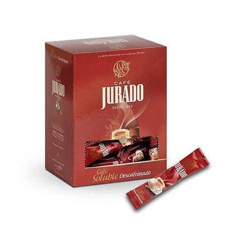 Café Jurado - Café Soluble Instantáneo descafeinado en sticks