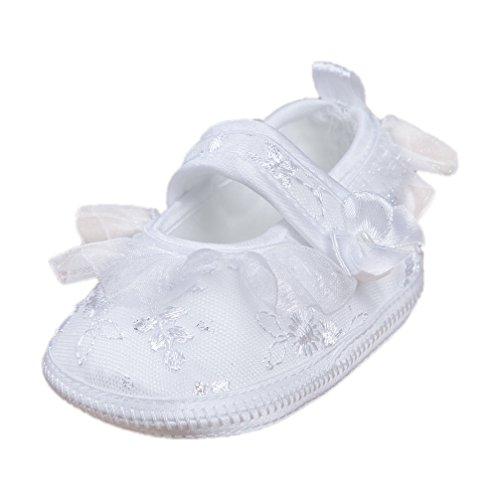 Festliche Babyballerinas Babyschuhe Taufschuhe silber weiß Modell 2651-w (20(12-15 M.))