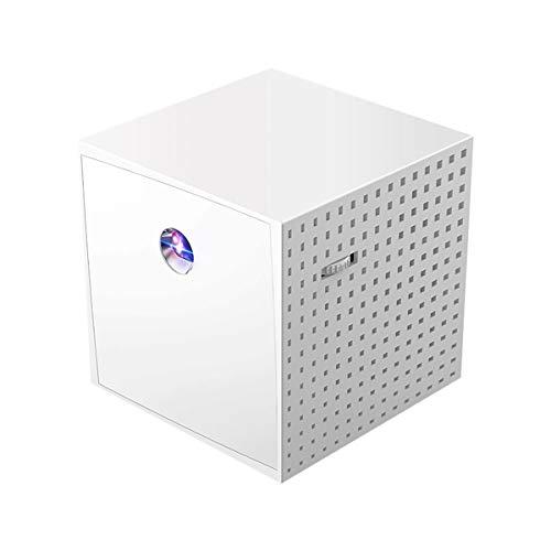 MHCYKJ Pantalla de proyector de Home 100 Pulgadas, Teléfono Full HD DLP LED Portátil 3D Proyector 3D con Pantalla para portátil PC TV para el Haz de Cine en casa (3. Salida de Audio de 5 mm)