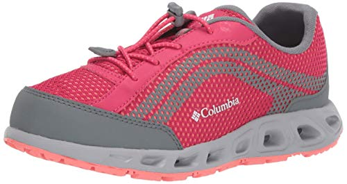 Columbia Youth Drainmaker IV, Chaussures de Sports aquatiques, Rose (Bright Rose, Hot Coral 600), 38 EU