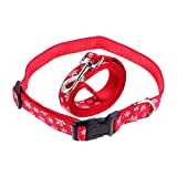 iplusmile Pet Costume Christmas Theme Pet Leash Collar Set Dog Lovely Collars and Leads Set