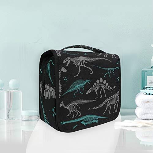 Maquillage Cosmetic Bag Art Trousse De Toilette De Voyage De Stockage Squelette Portable De Dinosaure Art