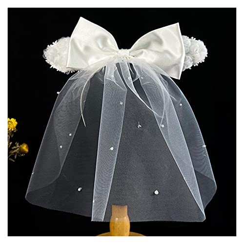 feiren Diadema de seda para novia, accesorio para el cabello de novia, color blanco