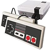Classic Retro Game Console, Plug and Play 8-bit Video Game Entertainment System Built-in 620 Games with 2 Classic Controllers