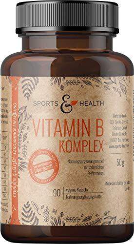 Vitamin B Komplex Natürlich Mit 90 Veganen Kapseln Mit Allen B Vitaminen Mit B1 B2 B3 B5 B6 B7 B9 B12 Mit Thiamin Riboflavin Niacin D-Pantothensäure Folsäure Biotin Vitamin H