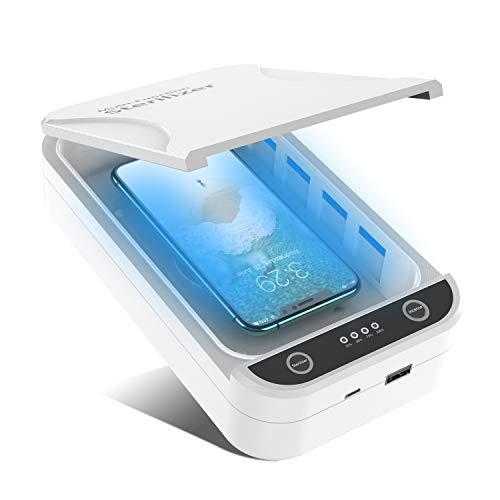 UV Sterilisator Desinfektion, Tragbarer UV Handy Sanitizer Smartphone Sterilisato Reiniger mit Aromatherapie für Schmuck, Schnuller, Brillen, Schlüssel, Bluetooth-Headsets