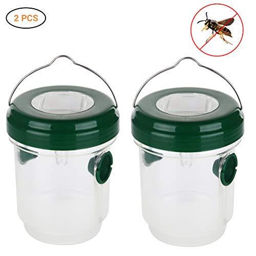 Trampa para avispas y mosquitos con luz solar, avispas con cebo atrapa a mosquitos, simplemente con cebo relleno, avispas atrapasueños y trampa para moscas sin veneno
