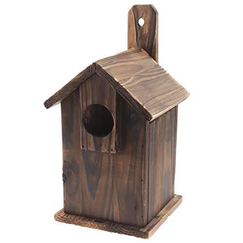 OTOTEC Nistkästen Holzvogelhaus Wildvogel Mehrzweck Nistkasten Traditioneller Nistkasten Massivholz Wasserdicht für Rotkehlchen Verschiedene Vogelarten
