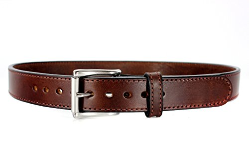 Steel Core Reinforced Leather Gun Belt - Extra Thick...