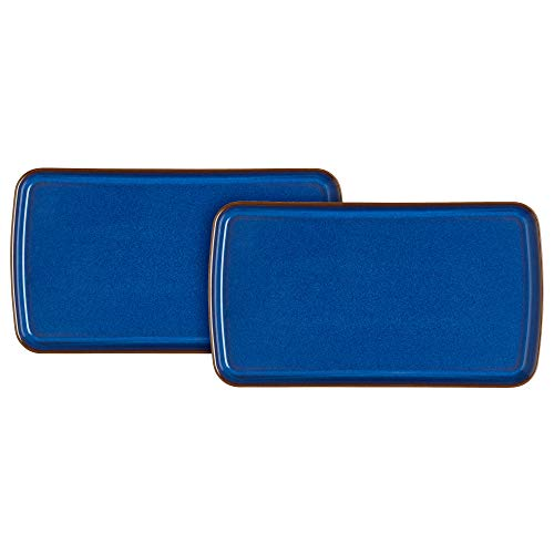 Denby Imperial Blue Lot de 2 petits plats rectangulaires