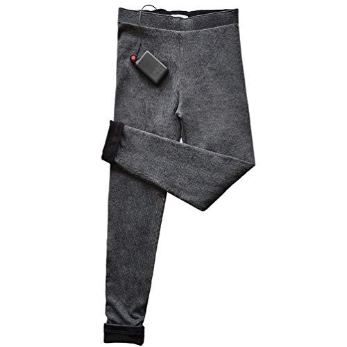 SONNIGPLUS Leggings para Mujer, Pantalones eléctricos, Pantalón Térmico, Leggings térmico con Puerto...