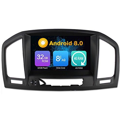 KUNFINE Octa Core Android Auto DVD GPS Navegación Multimedia Player Car Stereo Autoradio para Opel Vauxhall Insignia 2008 - 2013 Headunit Radio Volante Control (4GB RAM - Android 8,0)