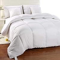 Utopia Bedding - Invierno Edredón de Fibra, Fibra Hueca siliconada, 1200 gramo (Blanco, Cama 80/90-155 x 220 cm)