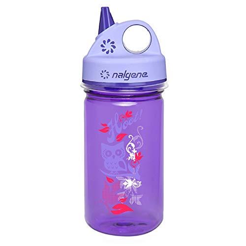 Nalgene Kinder Kunststoffflaschen 'Everyday' Grip-n-Gulp Trinkflasche, Violett, Eule, taglia unica