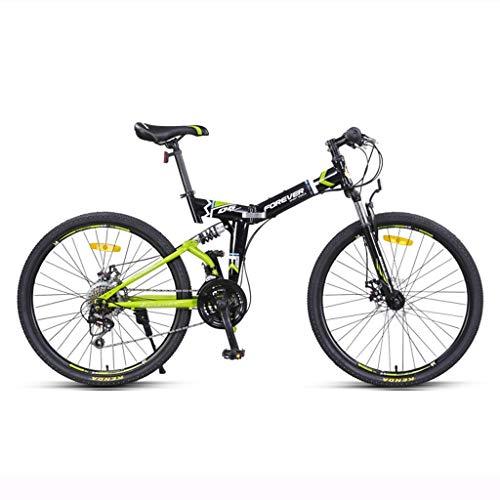 Klapprad 24 Zoll Mountainbike Fahrrad Erwachsener 24-Gang Männer und Frauen professionelle Rennwagen Falten (Color : Gray, Size : 24inches)