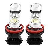 Bombilla H8/H11 Qiilu LED antiniebla Faros Delanteros 1800LM luces antiniebla 20×2323 LED (1 par)