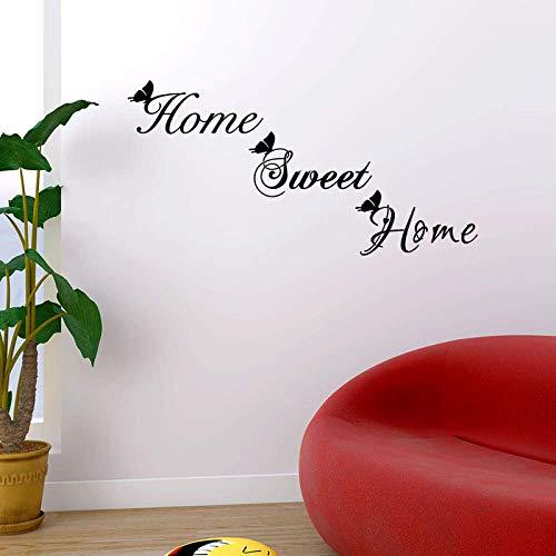 Home Sweet Home Wandaufkleber Schmetterling Englisch Für Wohnaccessoires Wandkunst Aufkleber Fensterschrank Tapete Türaufkleber Wandaufkleber 120Cm * 60Cm