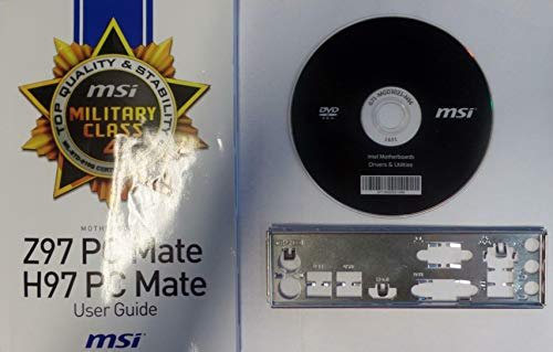 MSI Z97 PC Mate/H97 PC Mate Handbuch - Blende - Treiber CD