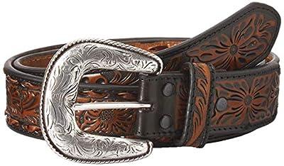 Ariat Unisex-Adult's Buck Stitch Straight Belt, brown/tan, 38