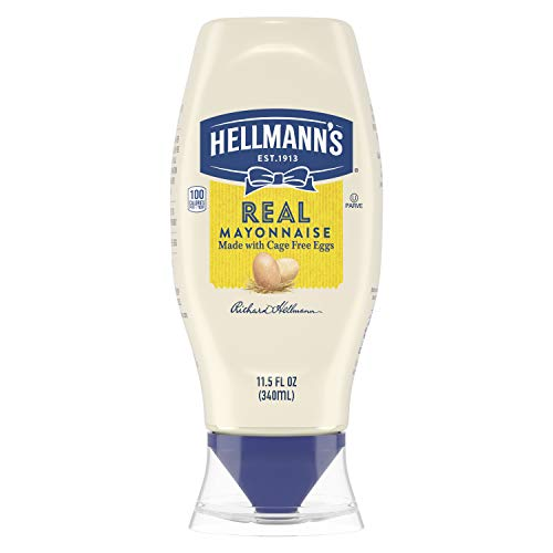 Hellmann's Real Mayonnaise For a Creamy Condiment Real Mayo Squeeze Bottle Made With 100% Cage-Free Eggs 11.5 oz