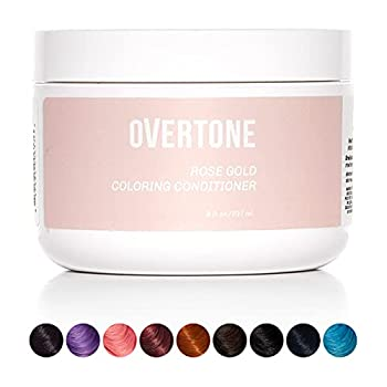 oVertone Haircare Original Rose Gold Coloring Conditioner | Gentle Semi-Permanent Hair Color with Shea Butter & Coconut Oil | Safe for All Hair Types | Vegan Cruelty-Free