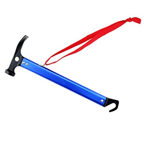TRIWONDER Camping Zelt Hammer Leichte Outdoor-Multifunktions Hammer Aluminium Hammer mit Zelt Stake Remover für Regenfliege Tarp (Blau)