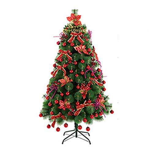 GY Sapin de Noël-180cm Sapin de Noël Artificiel Toutes Occasions Couleur Vert Pin Arbre à Aiguilles avec Support en Métal 5.9ft /+-+/ (Couleur : Red)