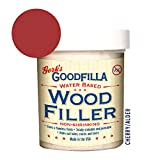 Water-Based Wood & Grain Filler - Cherry - 8 oz by Goodfilla | Replace Every Filler & Putty | Repairs, Finishes & Patches | Paintable, Stainable, Sandable & Quick Drying
