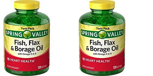 Spring Valley Fish Flaxseed Borage Oil Omega 3 6 9 120