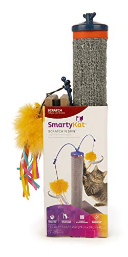 SmartyKat Scratch 'n' Spin Alfombra rascador con Spinning Juguetes