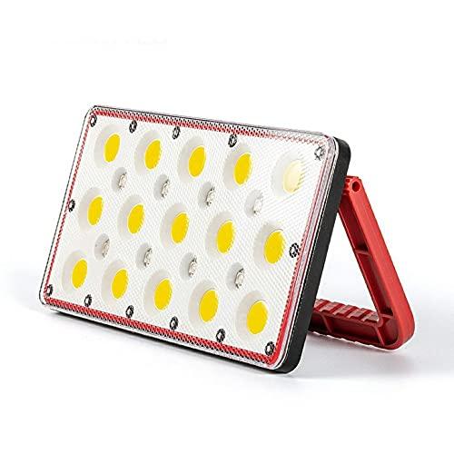 Luz de trabajo recargable con focos de luz de campamento de inundación portátil remota 5 modos de luz Base Rotación de 360 grados para reparación de automóviles de emergencia al aire libre e iluminaci