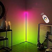 LEDフロアランプスマートランプスタンディングライトシンフォニーストリップRGBリモートコントロール色変更無段階調光リビングルームベッドルームコーナーモダンミニマリストミニマリスト雰囲気ライトリーディ,黒