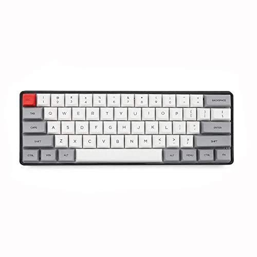 LHQ-HQ Luz de Fondo del Teclado mecánico mecánica Gaming Keyboard 60%61 Teclas NKRO Gateron Teclado for Juegos for PC/Gamer,mecanógrafo(Color:Blanco,Tamaño:Interruptor Rojo)