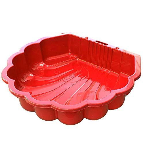 TikTakToo Sand & und Wassermuschel I Sandkasten ohne Abdeckung (1-teilig) I (Rot)