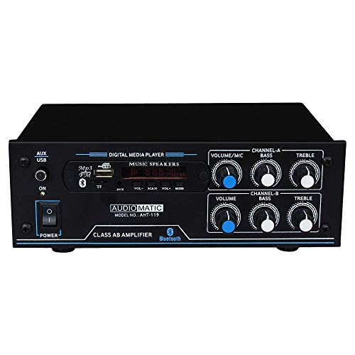 AudioMatic 4 Channel Home DJ Amplifier with Bluetooth, AHT-119-5500W PMPO FM & USB Player