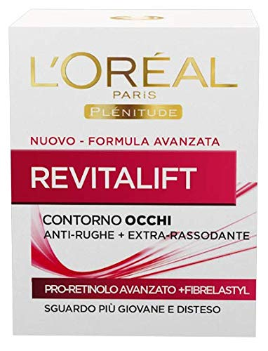 L'Oréal Paris Trattamenti Revitalift Crema Viso Giorno Contorno Occhi Anti-Rughe con Pro-Retinolo Avanzato, 15 ml