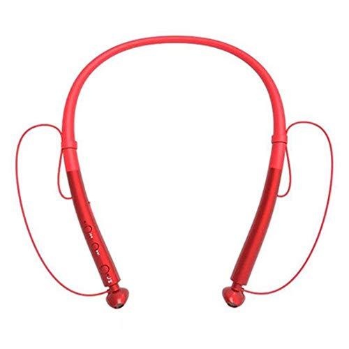 Auricular inalámbrico Bluetooth, 5.0 auriculares estéreo, auriculares extra larga espera, los auriculares a prueba de agua, auriculares subwoofer, deportes cuello cuelga el receptor de cabeza cuello