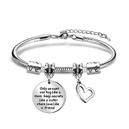 Vistaric Moster gåvor från systerdotter armband födelsedag årsdag smycken endast en moster kan krama som en mamma behåll hemligheter som en syster dela kärlek som en vän