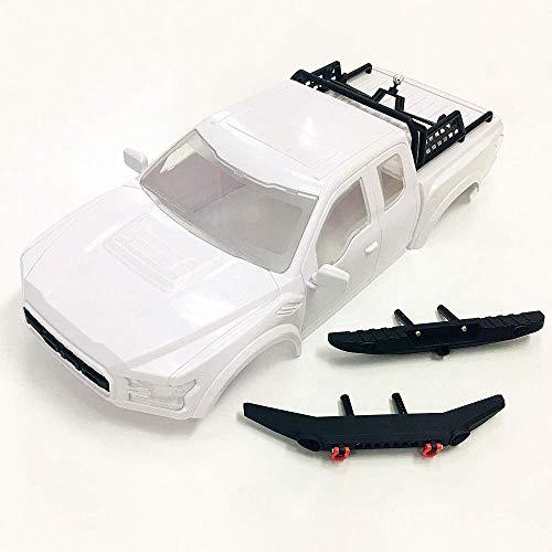 JTAccord Ford Raptor Carcasa de carrocería rígida para camión con Parachoques y Rejilla para Llantas de Repuesto para 1/10 RC Crawler Car Traxxas TRX-4 TRX4, 325mm de Distancia Entre Ejes,ABS,Piezas