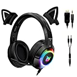 GUANGE PC-Gaming-Headset mit 4D-Stereo-Surround-Sound,...