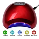 NATPLUS Nail Lamp 48W UV LED Nail Curing Lamp Light for Soak Off Nail Gel Lamp with Sensor High Speed