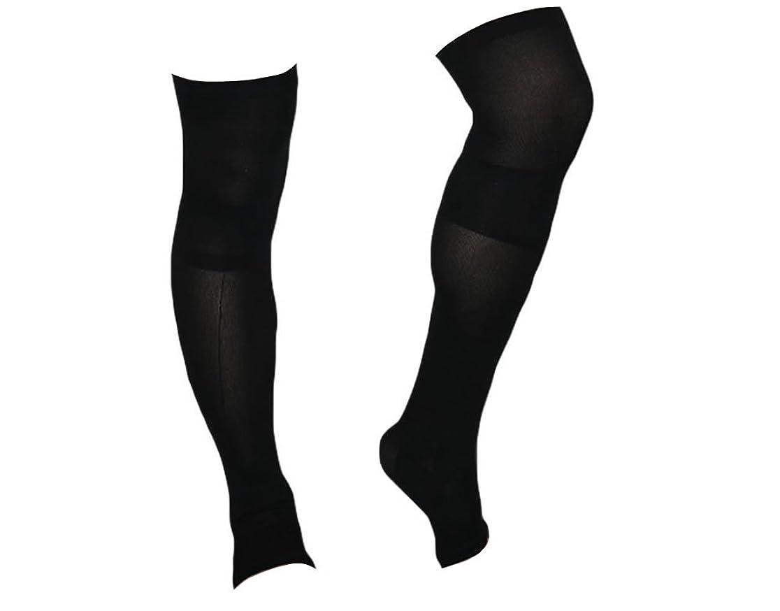 対人強大な男らしい着圧ソックス スパルタックス メンズ 加圧 ソックス 靴下 男性用 (ひざ上丈)