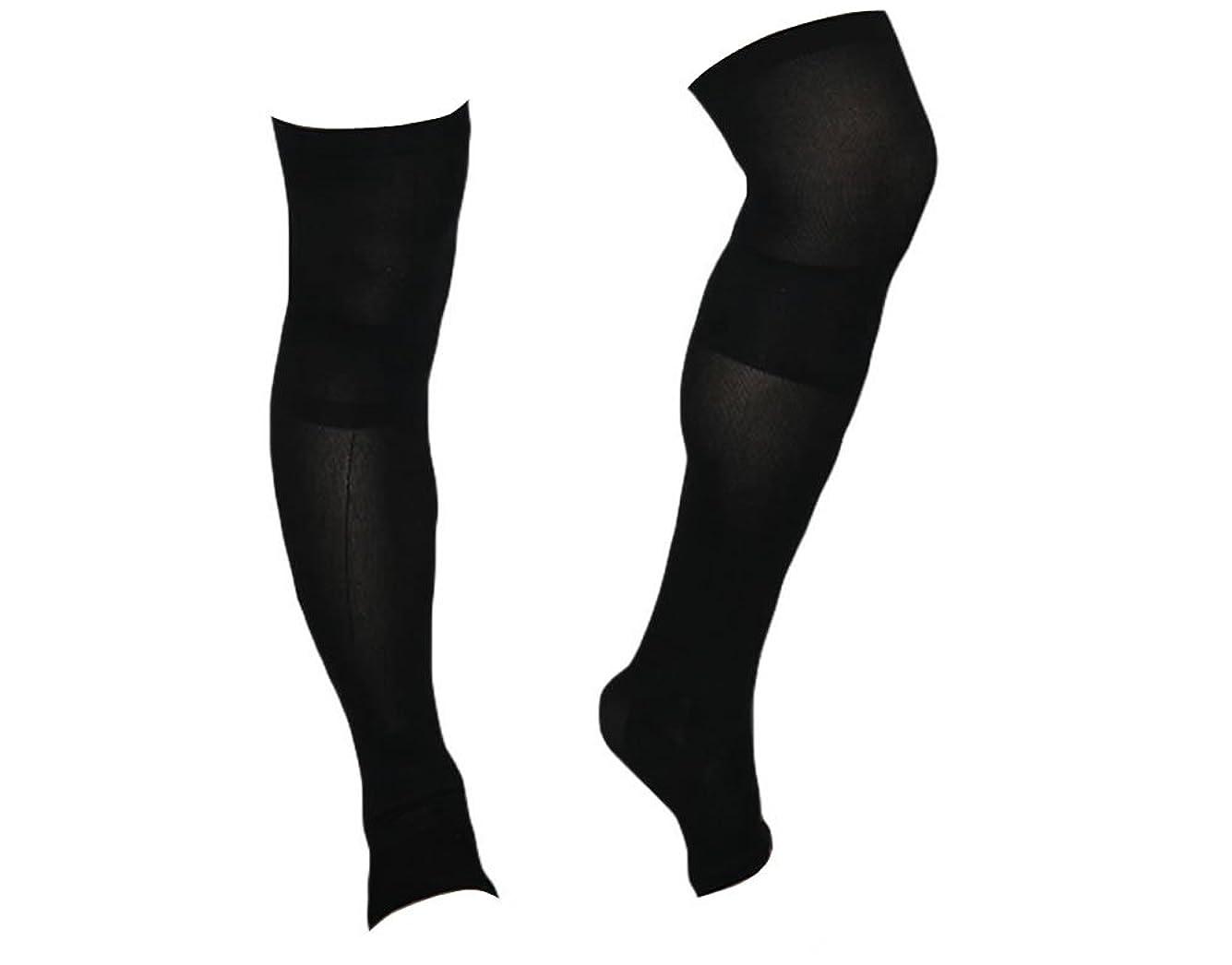 区画段階グリップ着圧ソックス スパルタックス メンズ 加圧 ソックス 靴下 男性用 (ひざ上丈)