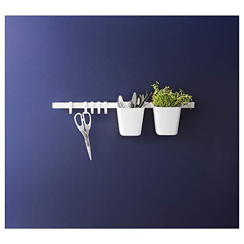 Ikea Sunnersta - Barra de cocina con 4 ganchos y 2 contenedores, color blanco Item Name (aka Title)