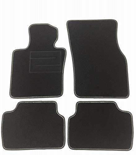 ASC Mini Cooper III Serie F55-F56-F57 3 – 5 puertas 2014 – 2020 alfombrillas para coche, de moqueta negra con talonera