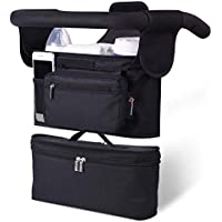 Momcozy 2-in-1 Stroller Organizer with Insulated Cup Holders & Insulated Baby Bottle Bag/Breastmilk Cooler Bag